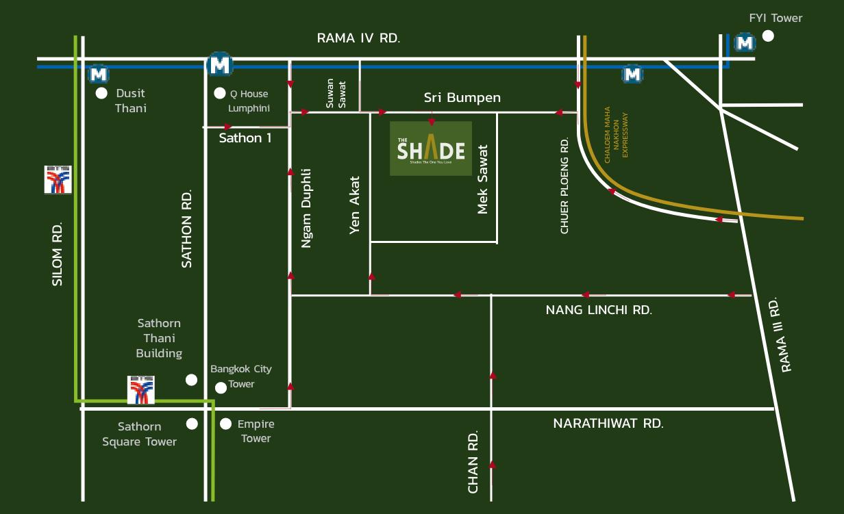 Map The Shade Sathon 1