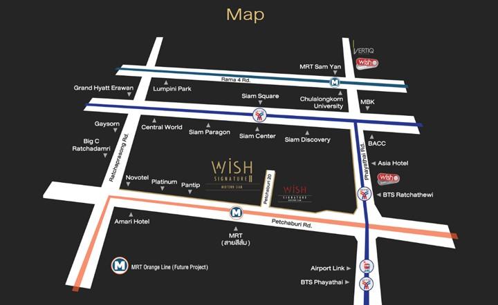 Map Wish Signature II Midtown Siam (ภาพที่1)