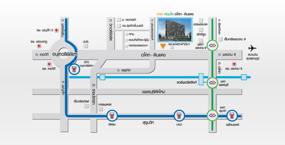 Map Casa Asoke-Dindaeng