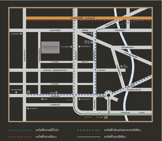 CHEWAWAN Pinklao Sathorn -map