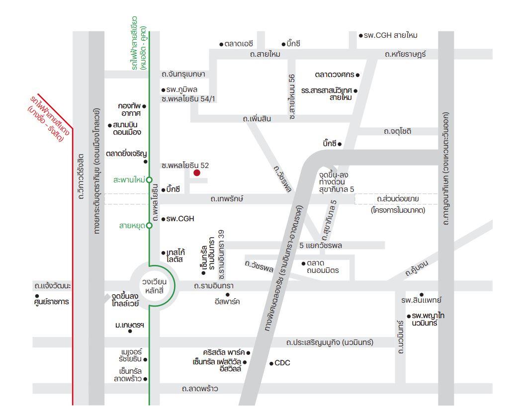 แผนที่ สิริ เพลส พหลโยธิน 52