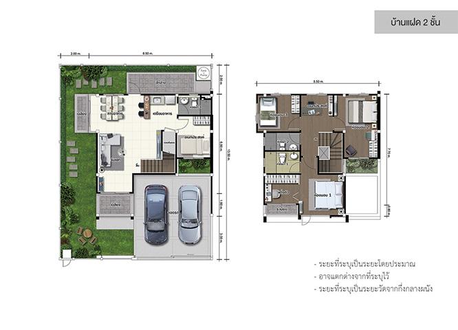 Lumpini townville ลาดกระบัง-สุวรรณภูมิ แปลน บ้านแฝด