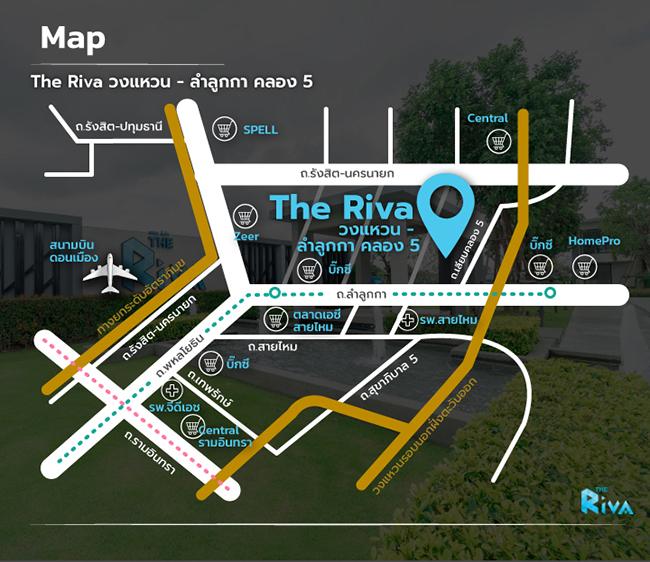 The Riva เดอะ ริว่า ทาวน์โฮม ลำลูกกาคลอง 5 map