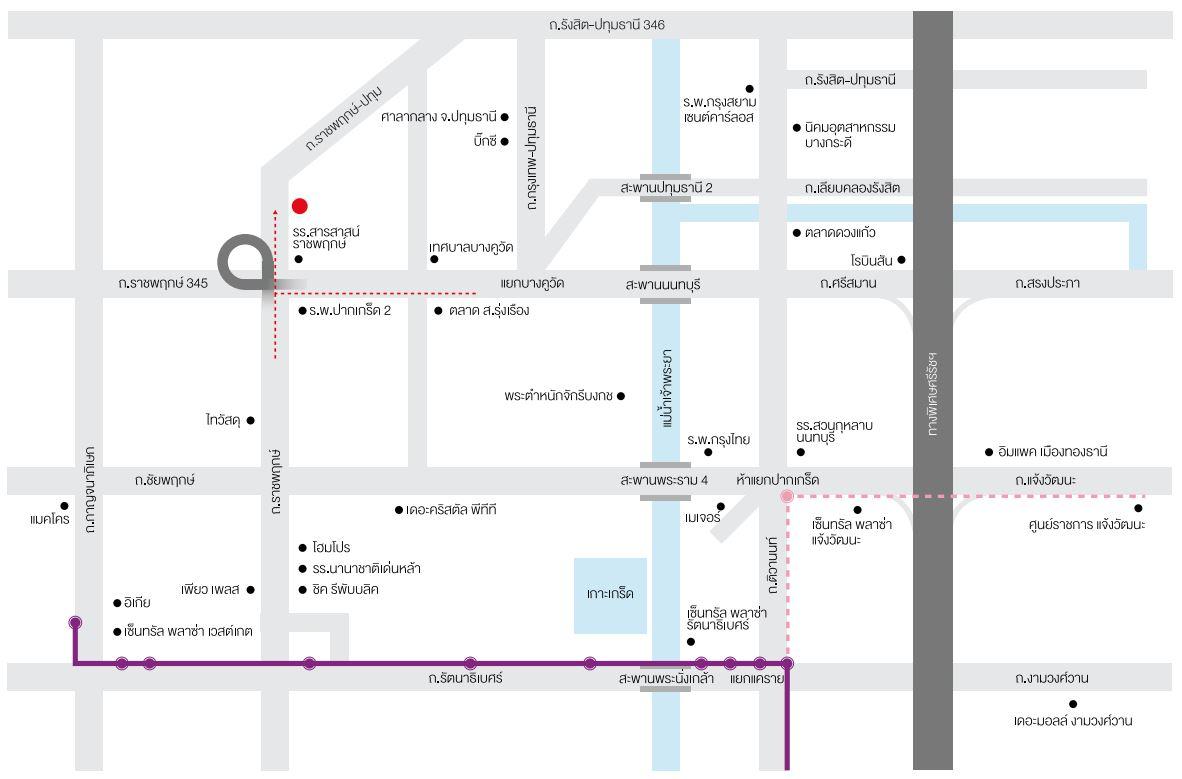 แผนที่ สิริ เพลส ราชพฤกษ์-346