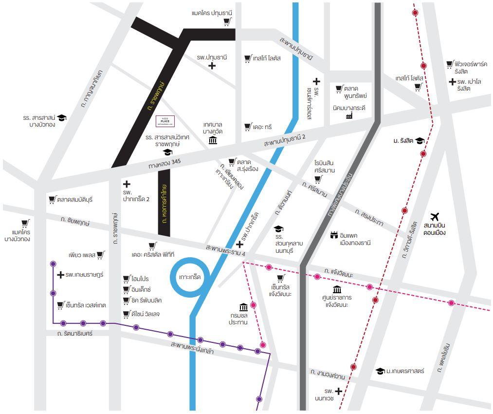 แผนที่ สิริ เพลส ราชพฤกษ์-345