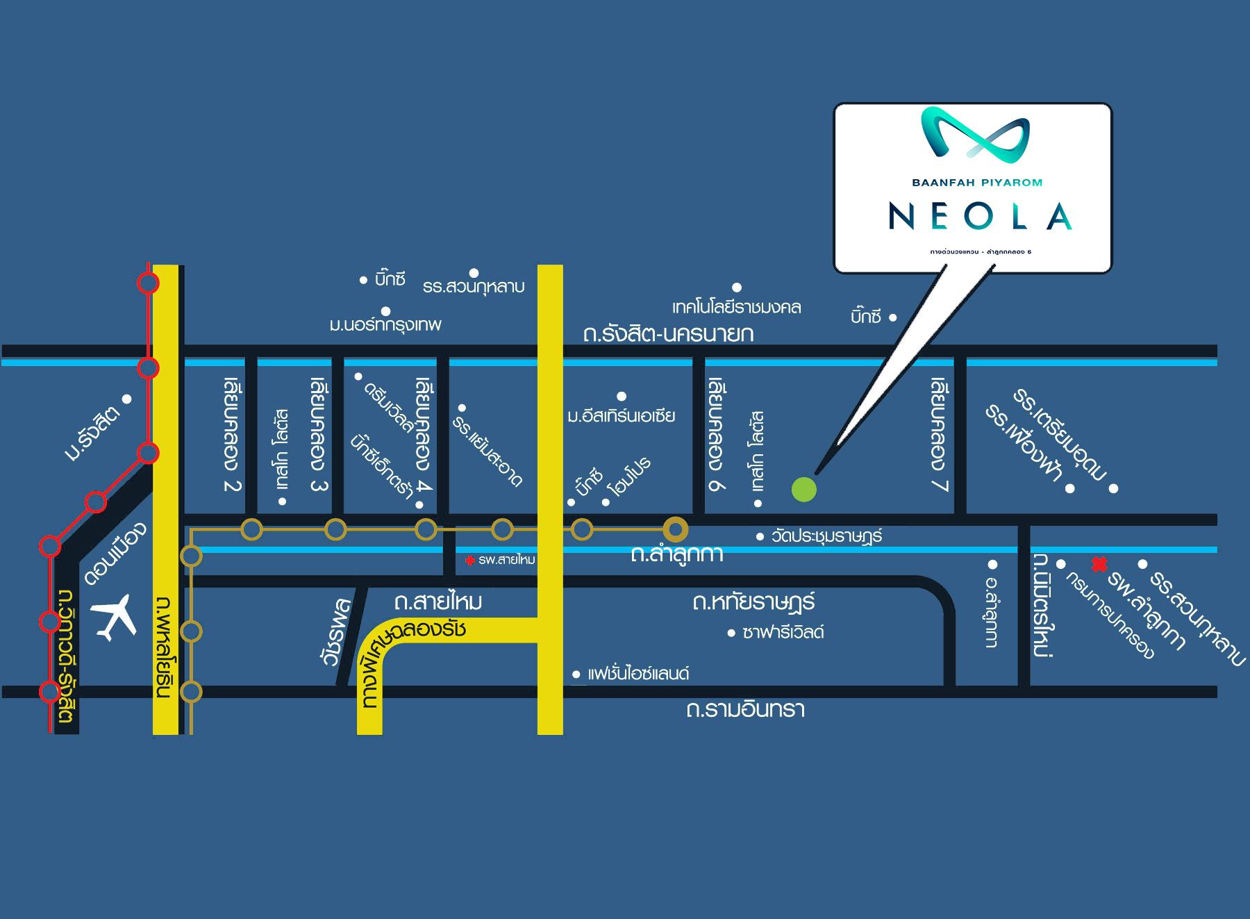 แผนที่ บ้านฟ้าปิยรมย์ นีโอลา