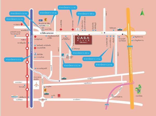 map CasaVille-Rangsit Klong2