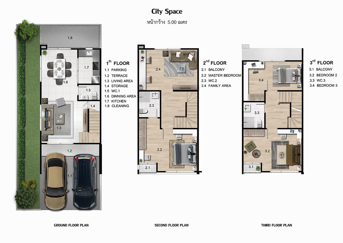 พาทิโอ บางนา-วงแหวน City Space plan