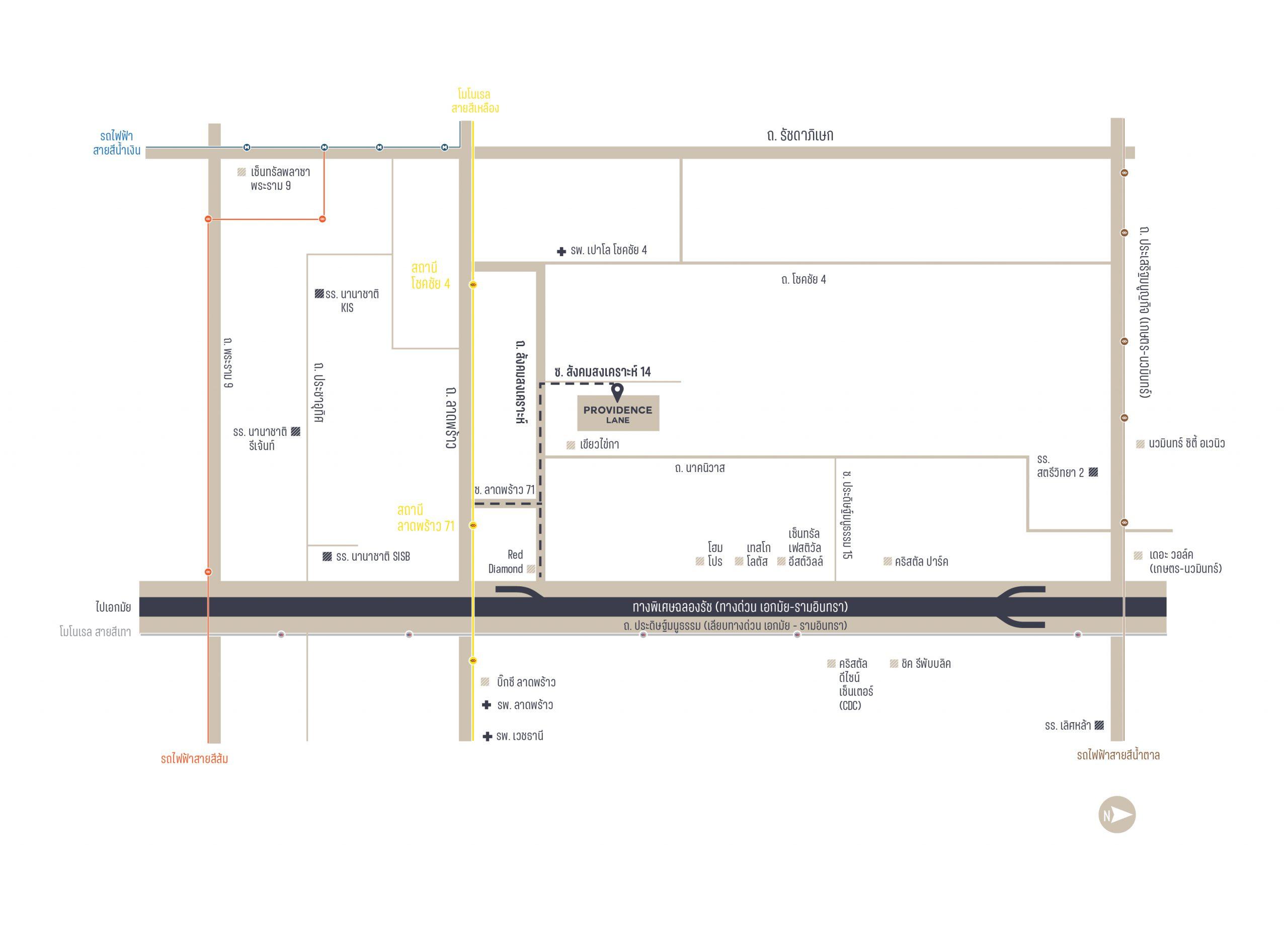 Providence Lane Map
