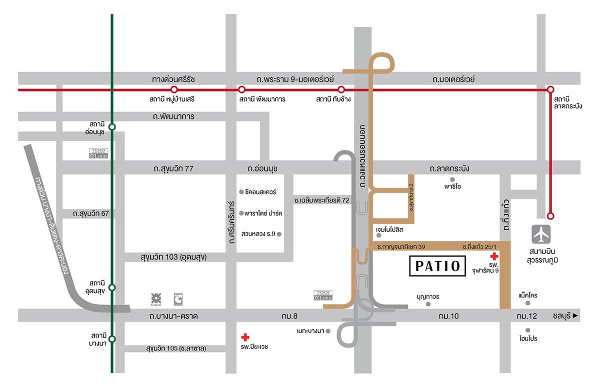 Map_patio Bangna-Wongwean