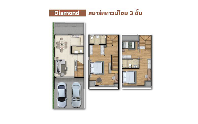 patio ลาดกระบัง-มอเตอร์เวย์ ทาวน์โฮม Diamond plan