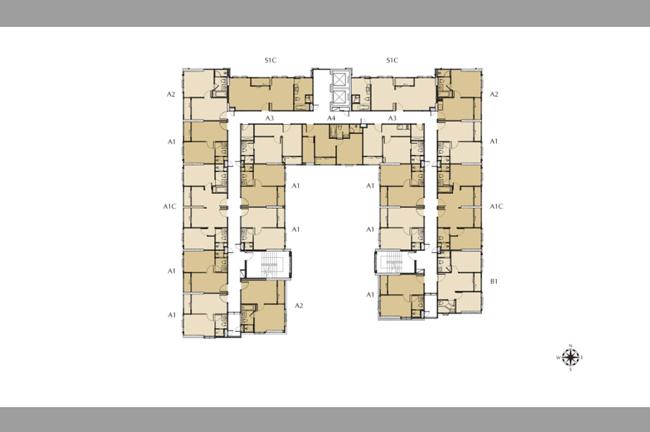 Floor Plan ชั้น 3-6