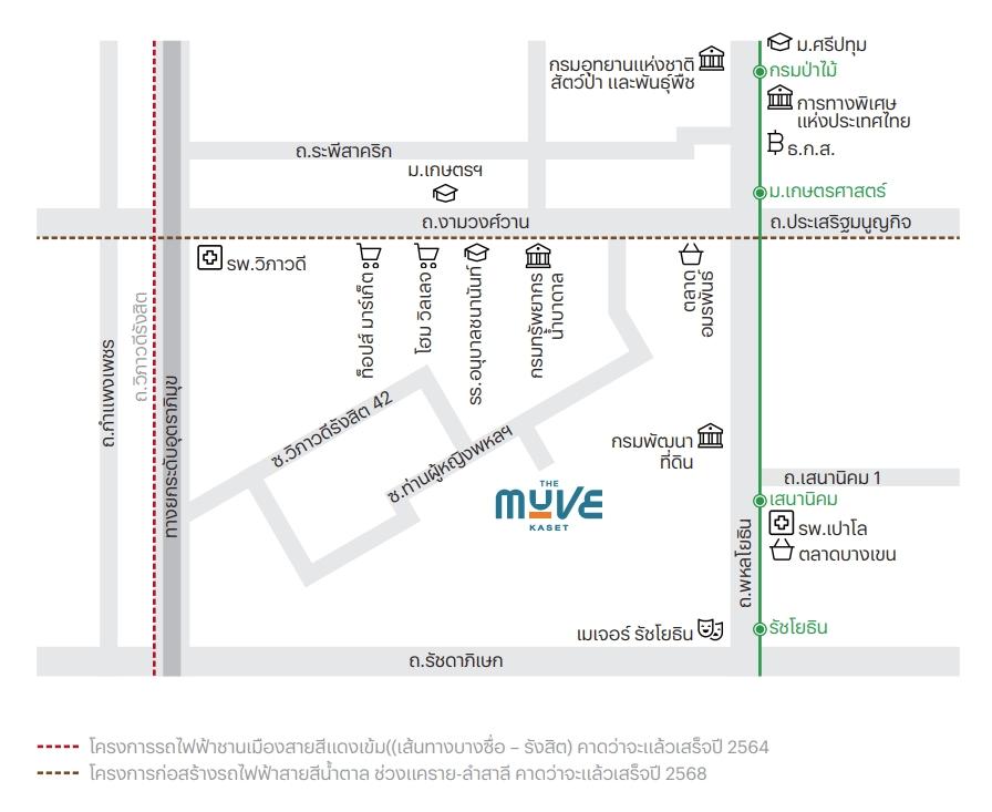 แผนที่ The Muve Kaset