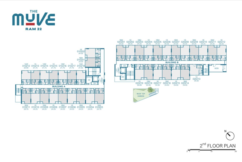 Floor Plan The Muve Ram 22 ชั้น 2