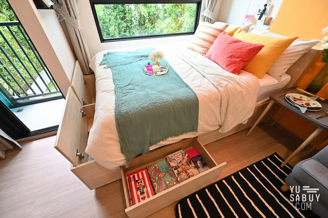 ช่องเก็บของใต้เตียง