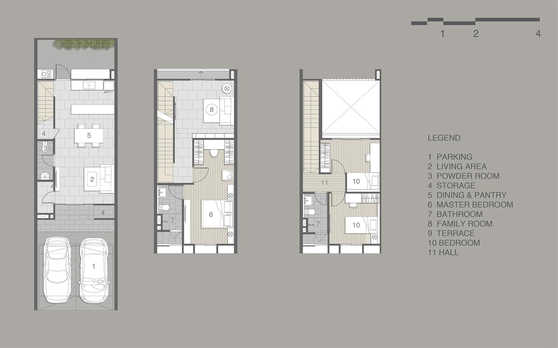 แปลนบ้าน NEO VILLE ศรีวารี-สุวรรณภูมิ แบบ 2 ชั้นครึ่ง
