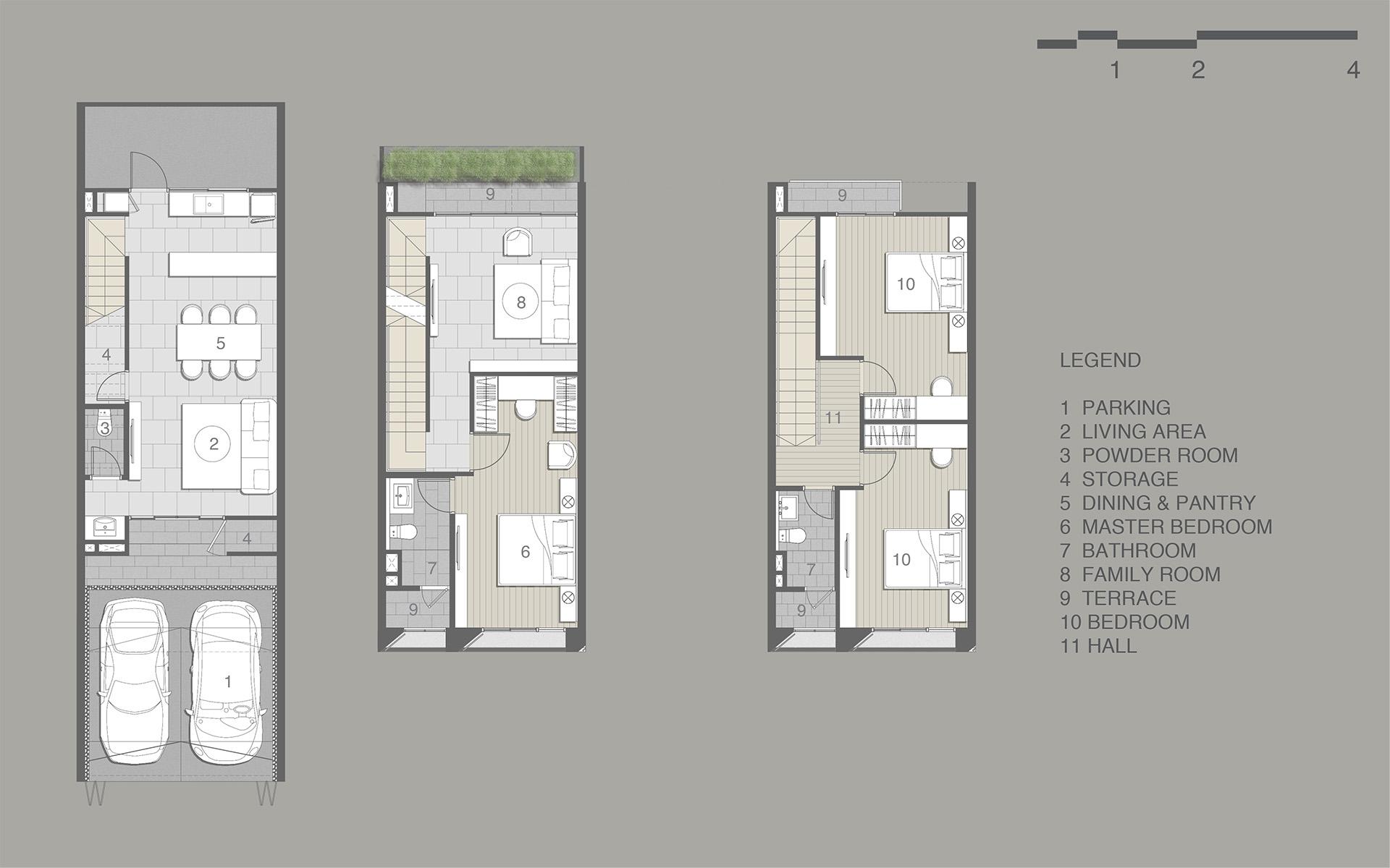 แปลนบ้าน NEO VILLE ศรีวารี-สุวรรณภูมิ แบบ 3 ชั้น