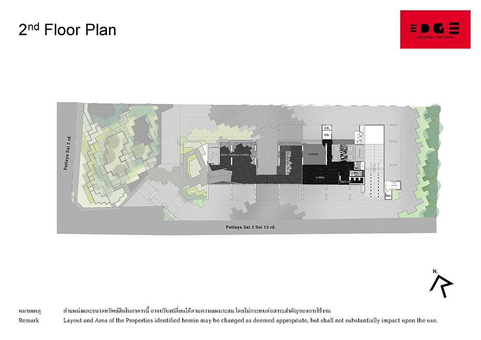 Floor Plan Edge Central Pattaya ชั้น 2